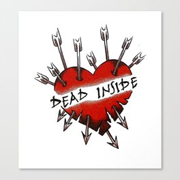 Dead Inside Canvas Print
