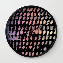 rainbow strokes Wall Clock