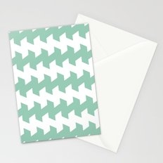 jaggered and staggered in grayed jade Stationery Cards