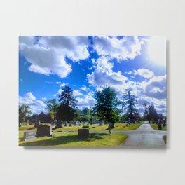 Sunny Cemetery Metal Print