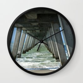 Under The Fishing Pier Wall Clock