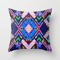 tarot Throw Pillows featuring Tarot 1B by Schatzi Brown