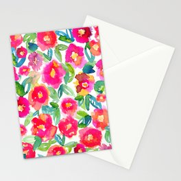 Hot Floral Mess Stationery Cards