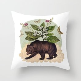 To Where Said the Bear Throw Pillow