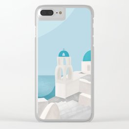 Greece Lighting Clear iPhone Case