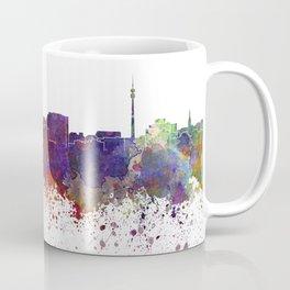 Dortmund skyline in watercolor background Coffee Mug