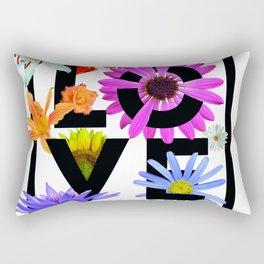 Love Flower Power Rectangular Pillow