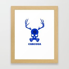 Carcosa Gas Mask Blue Framed Art Print