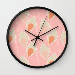 Climbing Vines Pink Wall Clock