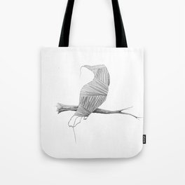 if i was young i'd flee this town... Tote Bag