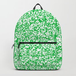 Tiny Spots - White and Dark Pastel Green Backpack