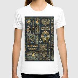 Ancient Egyptian Hieroglyph Sphinx Pyramid T-shirt