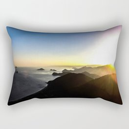View of sunset. Rectangular Pillow