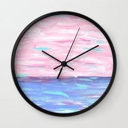 Pink Sky Delight Wall Clock