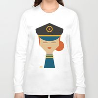 pilot Long Sleeve T-shirts featuring Pilot by Page 84 Design