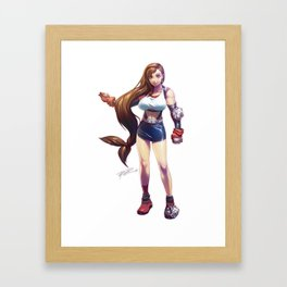 Tifa Lockhart Framed Art Print