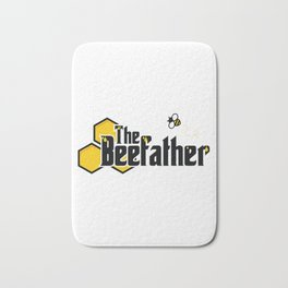 The Beefather - Bee Honey Beekeeper Honeycombs Bath Mat