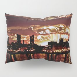 Angry Sunset. Pillow Sham