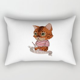 FRANKIE THE CAT - white Rectangular Pillow