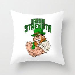 Irish Strength - Fitness Leprechaun Training Throw Pillow