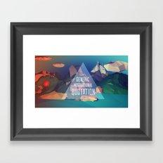 Generic Motivational Quotation Framed Art Print