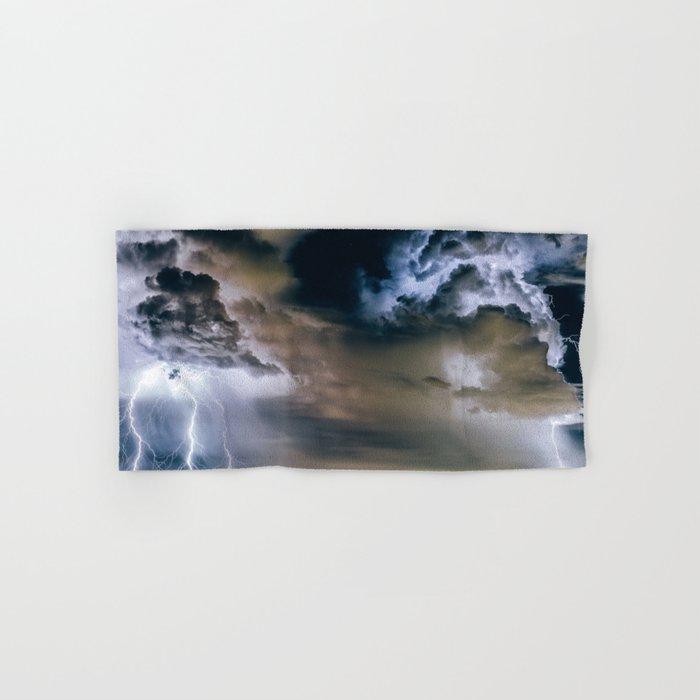 Lightning #clouds Hand & Bath Towel