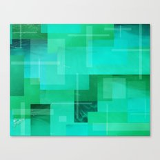 Green Ocean Canvas Print