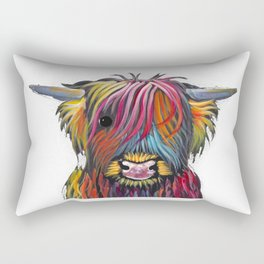 Scottish Highland Cow ' BRaVEHEaRT 2 ' by Shirley MacArthur Rectangular Pillow