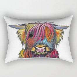 Scottish Highland Cow ' BRaVEHEaRT 2 ' by Shirley MacArthur Rectangular Pillow