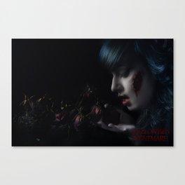 Halloween Nightmare Dead Flowers Canvas Print