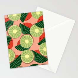 Watermelons and kiwis Stationery Cards