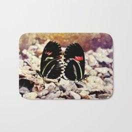 butterfly love Bath Mat