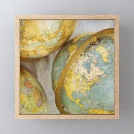 North America Framed Mini Art Print