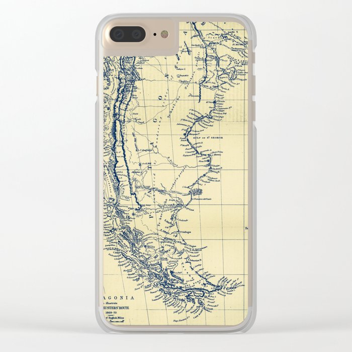 Patagonia - Blue Vintage Clear iPhone Case