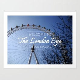 London Eye, England Art Print