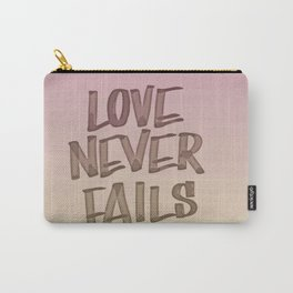 Love Never Fails - Gradient Carry-All Pouch