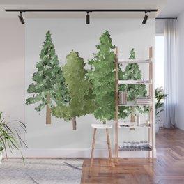 Christmas Pine Trees Wall Mural