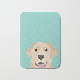 Yellow Lab dog portrait labrador retriever dog art pet friendly Bath Mat