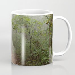 Adventure Ahead - Foggy Forest Digital Nature Photography Coffee Mug