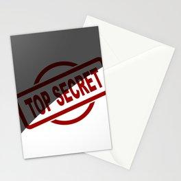 Top Secret Half Covered Ink Stamp Stationery Cards