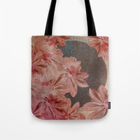 leah flores Tote Bags featuring Flores by MACACOSS
