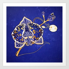 Egyptian Blue :: Orchid Art Print
