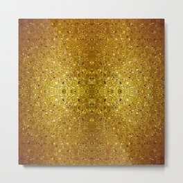 Deep gold glass mosaic Metal Print