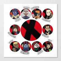xmen Canvas Prints featuring Xmen Evolution - Team Xmen by TMNT-Raph-fan