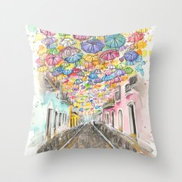 Fortaleza Street Throw Pillow