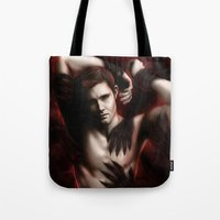 supernatural Tote Bags featuring Supernatural by PiccolaRia