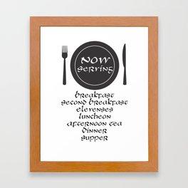 Now Servin Framed Art Print
