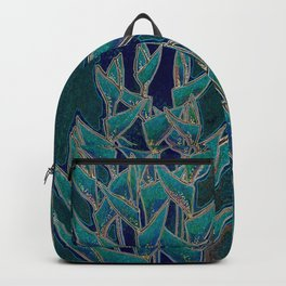 Heliconia Rostrata / Lobster Claw, twilight version Backpack