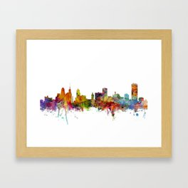 Buffalo New York Skyline Framed Art Print