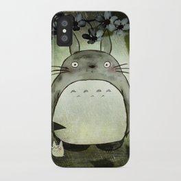 Totoro in the rain iPhone Case